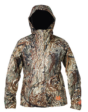 All Terrain Rain Jacket front Mossy Oak Duck Blind